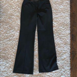 Women's Size 8 Long Flared Black Dress Pants